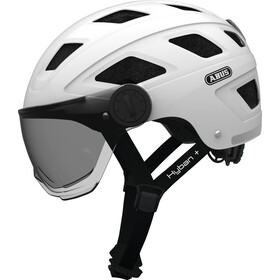 ABUS Hyban+ Fietshelm, white, smoke visor